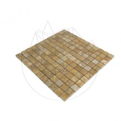Mozaic Travertin Yellow Polisat 2.3 x 2.3cm - Piatra naturala panel