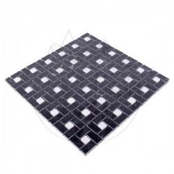 Mozaic Marmura Black and White Polisata - Piatra naturala panel