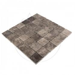 Mozaic Marmura Dark Emperador Polisat 4.8 x 4.8cm - Lichidare Stoc - Piatra naturala panel