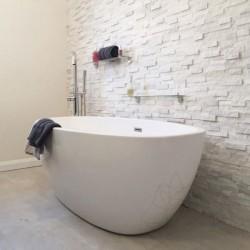 Marmura Panel Pure White 15 x 60cm - Piatra naturala panel