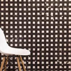 Mozaic Marmura Nero Marquina / Alba Polisata 7.2 x 7.2cm MSM2 - Piatra naturala panel