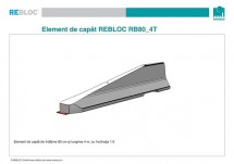 Element de capat RB80_4T - Parapeti din beton