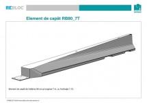 Element de capat RB80_7T - Parapeti din beton