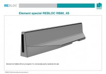 Element de tranzitie RB80_4S - Parapeti din beton