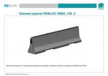 Element de tranzitie RB80_100_4 - Parapeti din beton