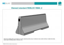 Element standard RB80_2 - Parapeti din beton
