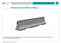 Element standard RB80_4 - Parapeti din beton