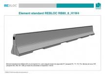 Element standard RB80_8_H1W4 - Parapeti din beton