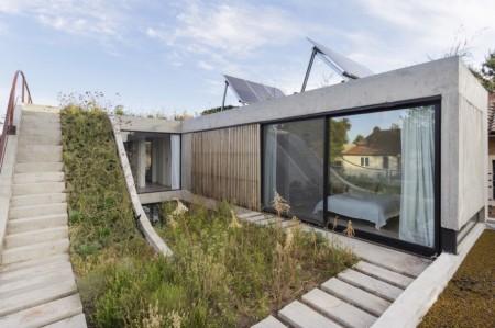 Casă solară organizată în jurul spațiilor vegetale - Casă solară organizată în jurul spațiilor vegetale