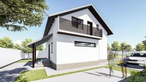Proiect casa Allena - Proiecte de case mici