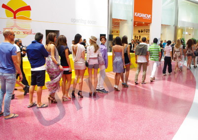 Pardoseala artistica - shopping center - Pardoseli epoxidice artistice