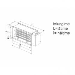 Baterie de incalzire electrica 18KW, 380V - Incalzire si climatizare baterii de incalzire electrice