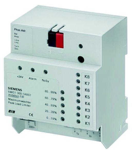 Siemens Building Technologies - limitatorul de varf de sarcina N 360 din portofoliul Gamma KNX -