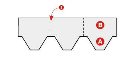 O noua tehnica de finisare a coamelor drepte & inclinate cu sindrilele hexagonale - O noua