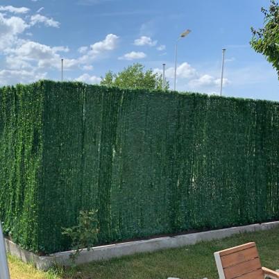 Gard verde artificial - Proiecte realizate cu produse GREEN LEAVES