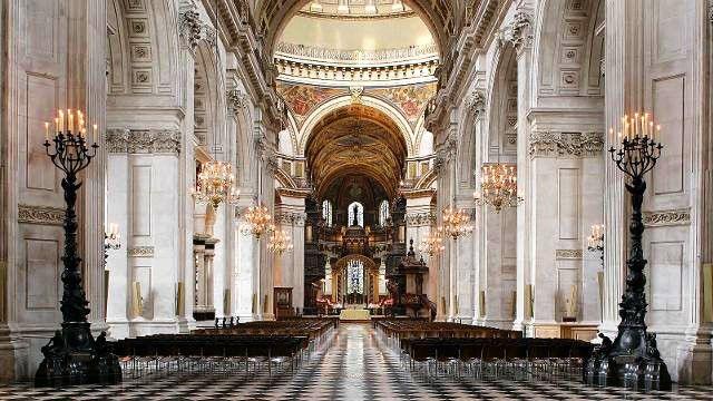 Catedrala Sf. Paul, Londra - interior - Lectia de arhitectura - emblemele stilului baroc
