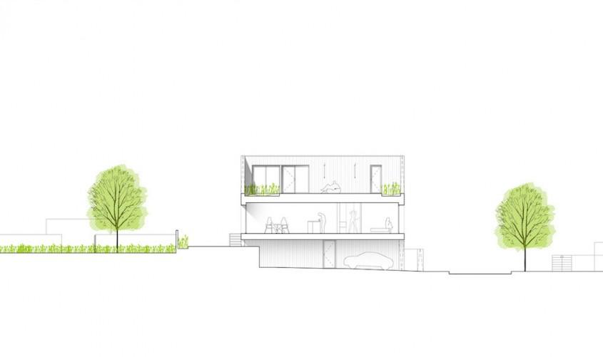 "Casa ""Flying Box"" - planuri - Mai multe containere compun o locuinta frumoasa si confortabila"