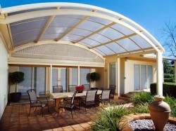 Veranda cu acoperis curbat - Tipuri de verande