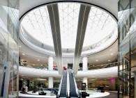 Prelucrare sticla fatada vitrine interioare si balustrade Mega Mall Bucuresti - Prelucrare sticla fatada vitrine interioare