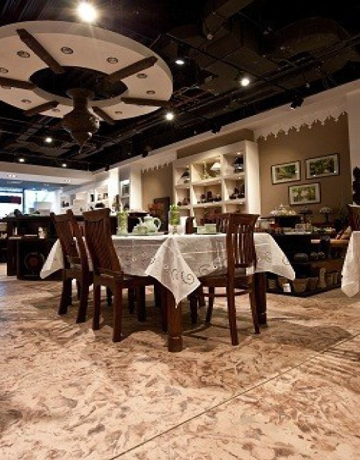 Pardoseala decorativa beton amprentat - Pardoseli decorative pentru cafenele, restaurante, terase de vara