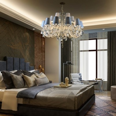Dormitor cu candelabru Cristal Bohemia - Candelabre din Cristal Bohemia