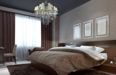 Candelabru Cristal Bohemia intr-un dormitor - Candelabre din Cristal Bohemia