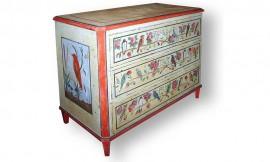 Mobila pictata arhaic - Pictura pe mobilier