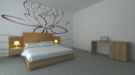 pat si birou camera hotel si pensiune - Mobilier pentru camere de hotel