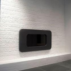 Marmura Thassos Ravdoto 10cm x LL x 2.2cm - Piatra naturala decorativa marmura nihaki black