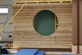 Detaliu fatade din lemn - Sistem montaj fatade ventilate