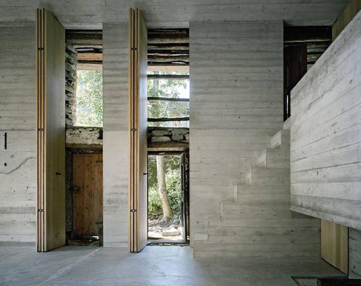 O structura veche de 200 de ani ascunde o casa de vacanta moderna - O structura