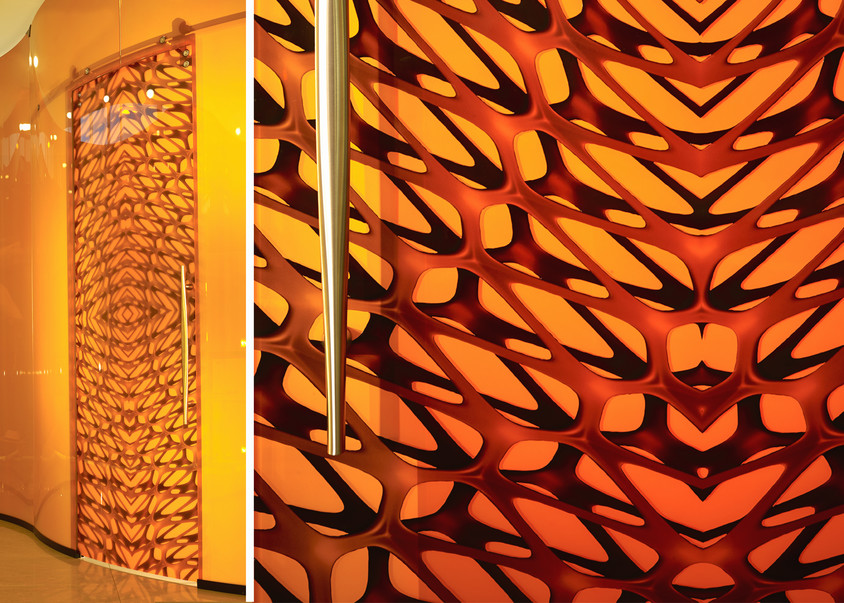 Hybrid Collection Doors with Mesh Pattern by Mac Stopa for Casali - CASALI participă la prestigiosul