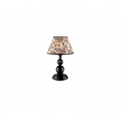 Veioza Bouli negru 1x60W E27, textil - Iluminat corpuri de iluminat