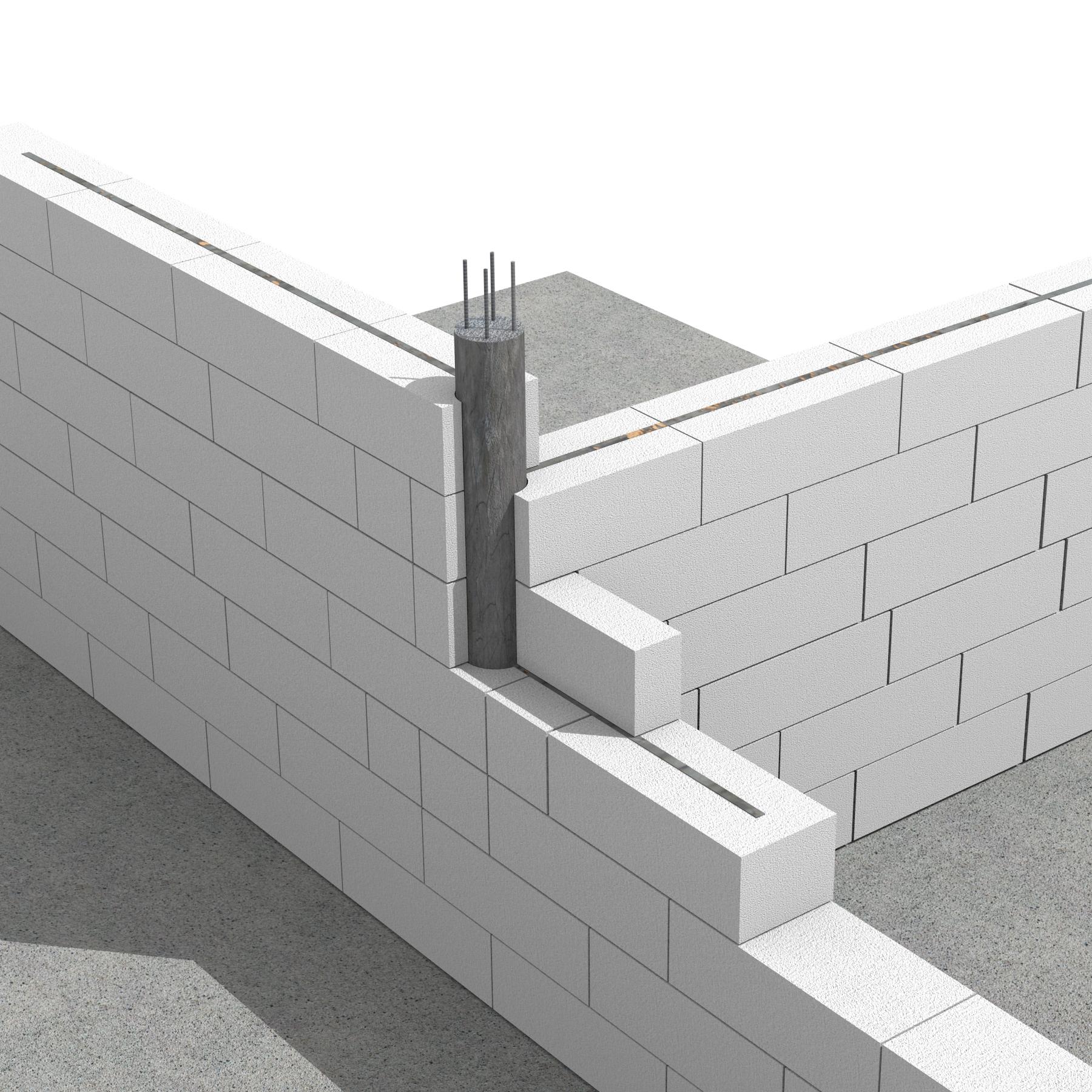 Pereti de compartimentare portanti realizati cu profile O pentru turnarea stalpisorilor - Sistem de zidarie confinata din BCA Macon pentru constructii rezidentiale, publice si industriale