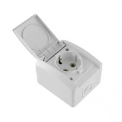 Priza schuko IP44 policarbonat - Aparataj electric mini og