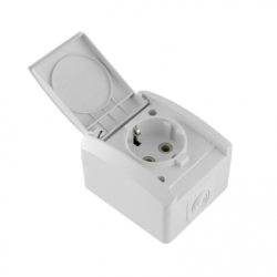 Priza schuko IP44 ceramica - Aparataj electric mini og