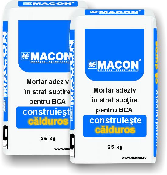 Saci adeziv - Sistem de zidarie confinata din BCA Macon pentru constructii rezidentiale, publice si industriale