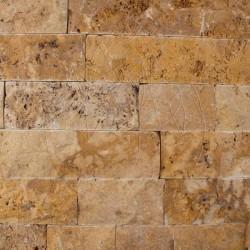 Travertin Yellow Scapitat 7.5cm x LL x 2.2cm - Piatra naturala decorativa yellow travertin