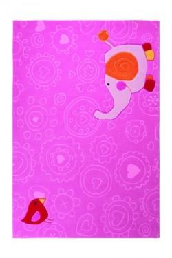 Covor Copii Acril Sigikid Colectia Happy Zoo Elephant Sk-3342-01 - Covoare
