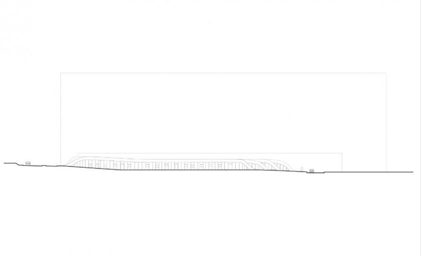Gradinita Origami - planuri - Un acoperis verde intre doua cladiri de birouri mascheaza spatiile unei