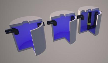 Separator de hidrocarburi cu retentie totala, cu 3 bazine - Separatoare de hidrocarburi