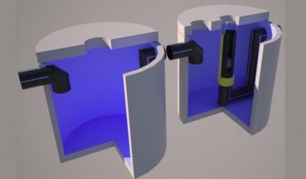 Separator de hidrocarburi cu retentie totala, cu 2 bazine - Separatoare de hidrocarburi