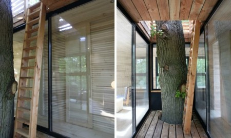 O casă în copac din Franța, care are un interior surprinzător - O casă în copac din Franța, care are un interior surprinzător