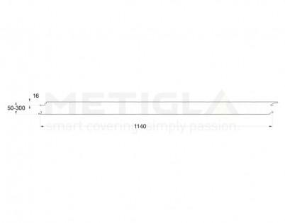 Panouri termoizolante MW - profil perete cu prindere invizibila - Variante MW