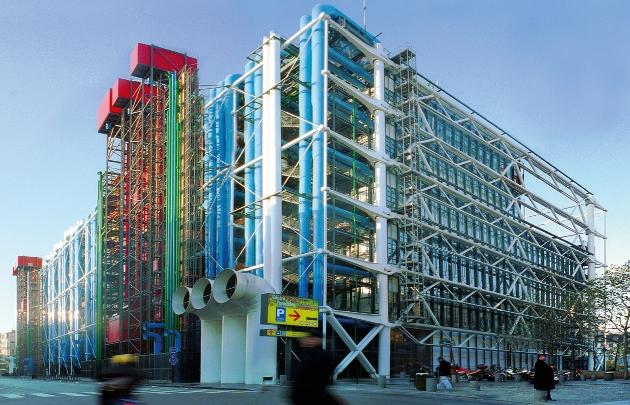 Centrul Pompidou - 7 arhitecți cărora nu le-a fost frică de culoare