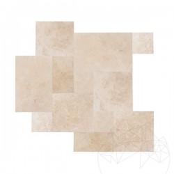 Travertin Classic Cross Cut, French Pattern Set, Periat 1.2cm - Travertin