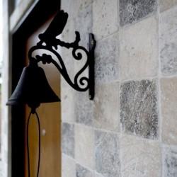 Travertin Silver Cross Cut, Antichizat, 10 x 10 x 1cm - Travertin