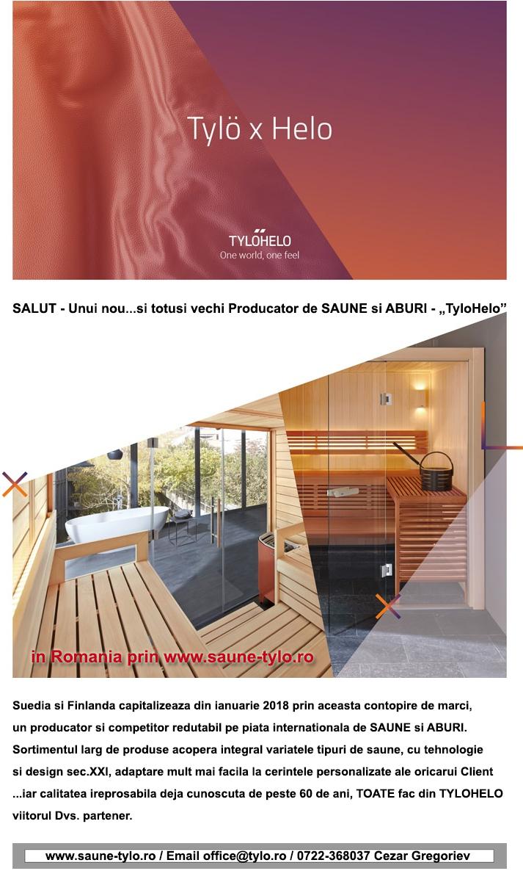 """SALUT - Unui nou și totuși vechi Producător de SAUNE și ABURI - """"TyloHelo"""" - SALUT"""