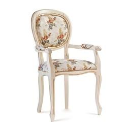 Scaun cu brate - Ovale Liscia  - Scaune clasice si moderne din lemn masiv