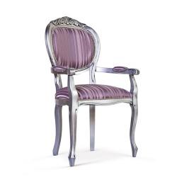 Scaun cu brate - Ovale Intagliata  - Scaune clasice si moderne din lemn masiv